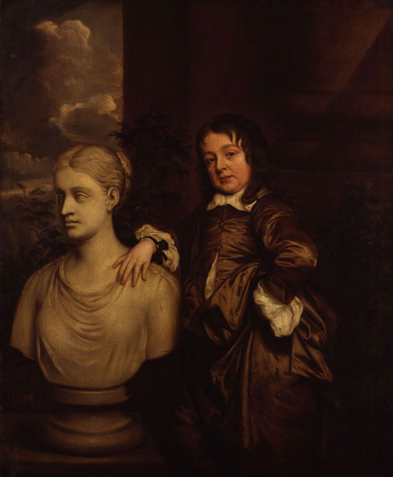 Richard Gibson retratado por Peter Lely en 1658